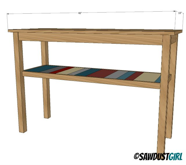 Two toned diy console table sawdust girl for Sofa table tutorial