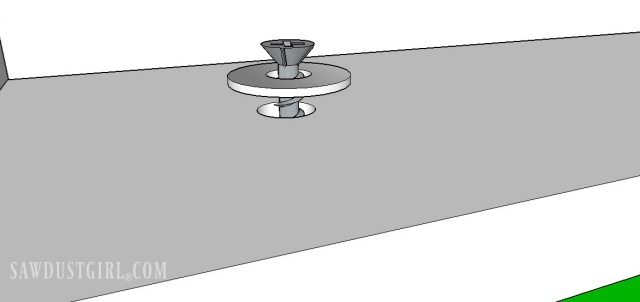 Use oversized holes and washers on screws to attach top