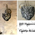 Creepy DIY Halloween Candle Sconce