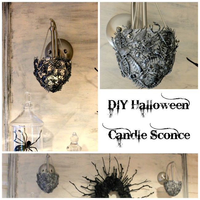 Diy Wall Sconces For Candles : DIY Creepy Halloween Candle Sconce - Sawdust Girl