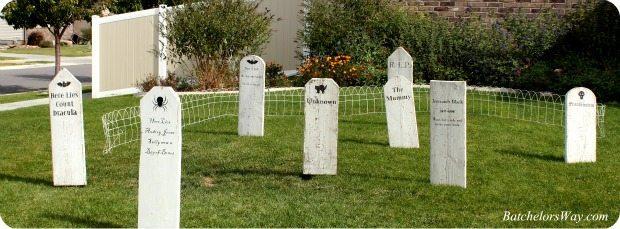 DIY Halloween Graveyard-batchelorsway.com