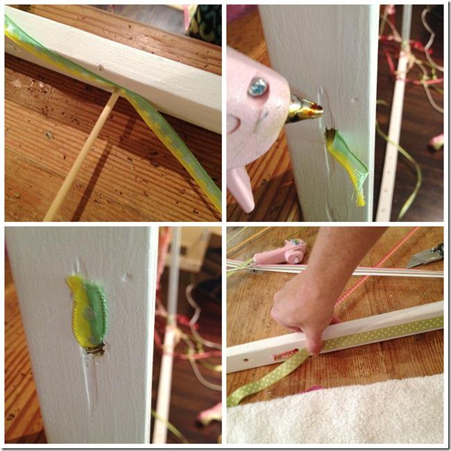 DIY macrome headboard steps 2