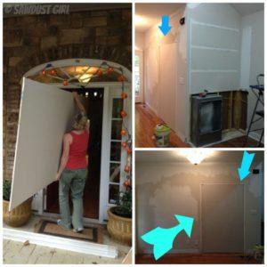 Entry, living room, dining room – progress
