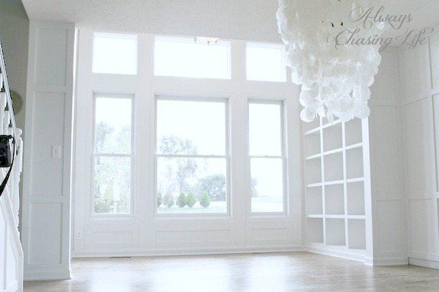 Amazing DIY built-in bookshelves.  http://sawdustgirl.com