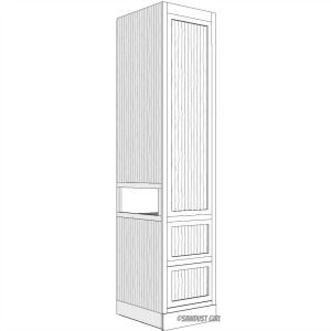 Built-in Wardrobe with Side Cubby -free plans