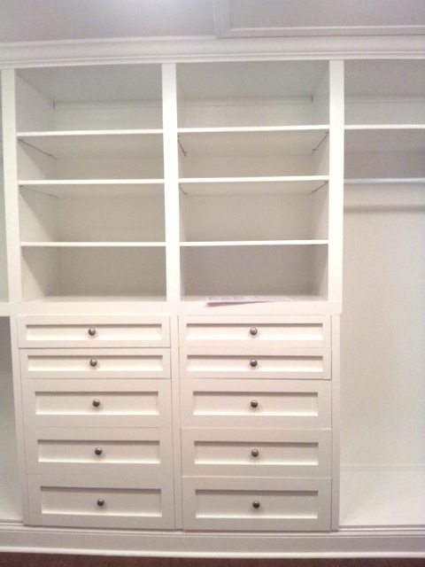 Custom Cabinets In Built In Closet