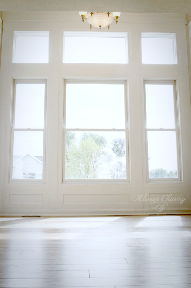 Awesome, tall, library window trim.  http://sawdustdiaries.com