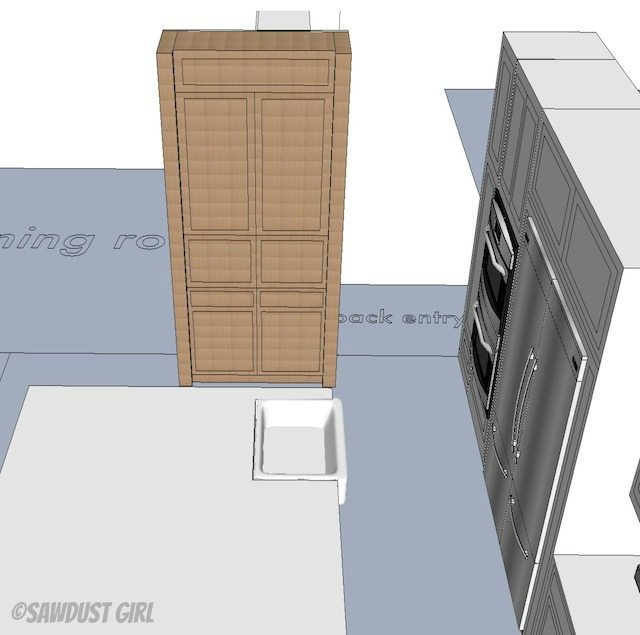 Sawdust Girl - kitchen design plan