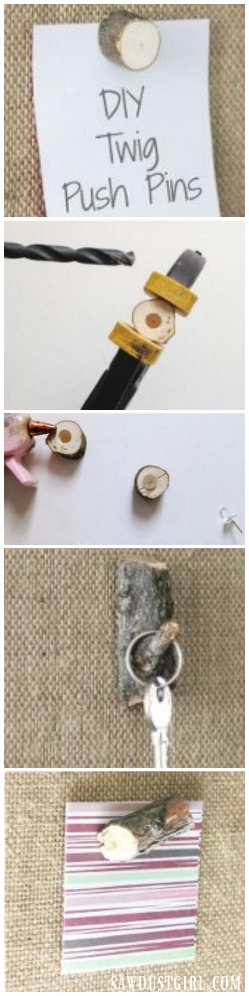 DIY Gift Ideas - Twig Push Pins