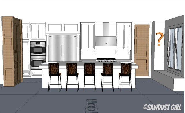 Single Island kitchen layout