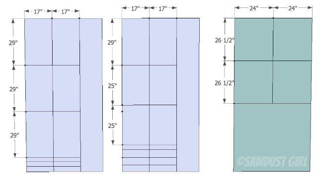 Cara- 4 base- bookcase-cut list