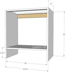 Built-in Bookshelf Base Cabinet Plans – Cara Collection