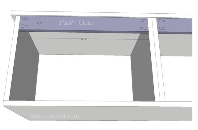 Built-in Window Seat Bench -- free plans from Sawdust Girl.