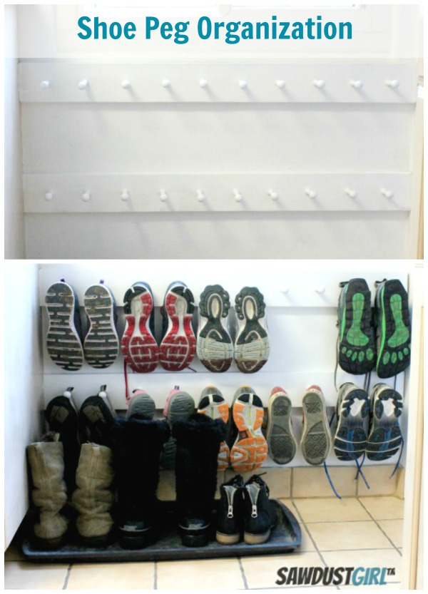 Entry Shoe Organization and Storage