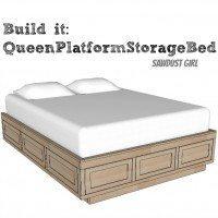 Industrial Platform Bed Woodworking Plans Sawdust Girl