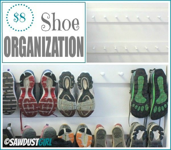 Super cheap and easy shoe organization project!