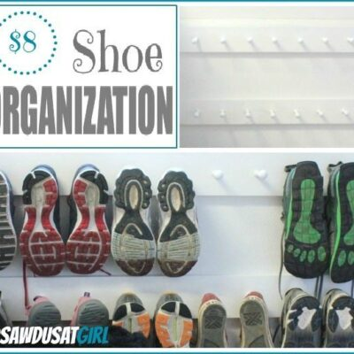 Shoe Organization – Easy Shoe Storage Project