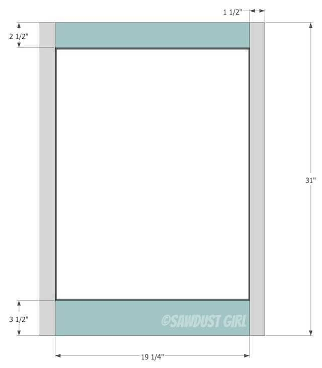 Built-in daybed and bookshelf plans from http://sawdustgirl.com.