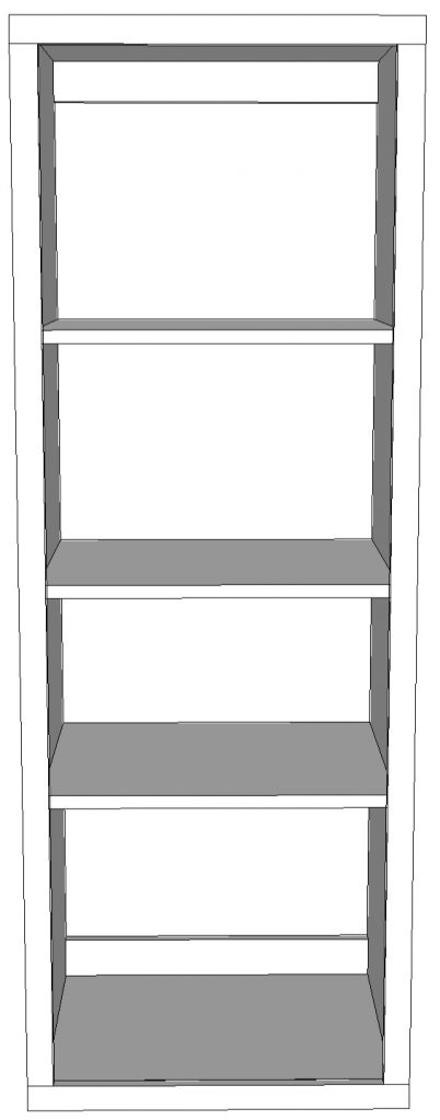 Free plans for the Robin Collection Bookshelf from Sawdust Girl.