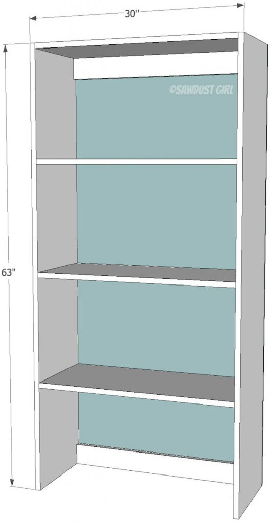 built in upper bookshelf plans cara collection