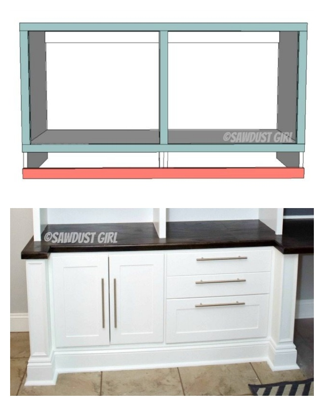 Bookshelf Base Cabinet Cara Collection Sawdust Girl