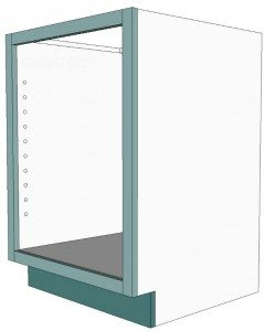 How to build and attach a cabinet faceframe