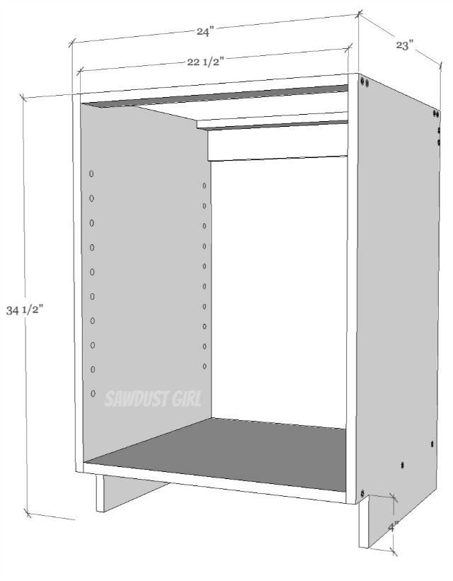 Base Cabinet Toe Kick Dimensions Bar Cabinet