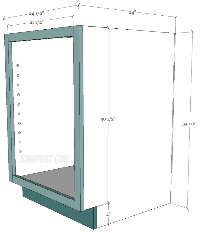 Pocket Hole Kitchen Cabinet Plans