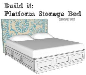 Cal King Platform Storage Bed