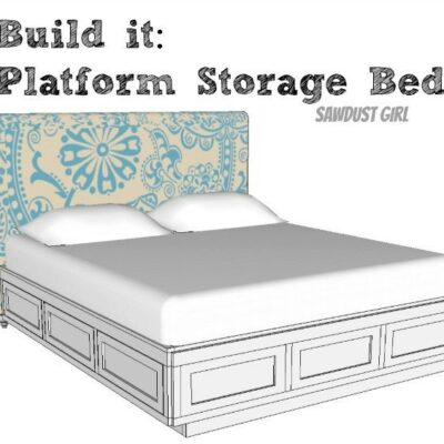 Cal King Platform Storage Bed – Free Plans