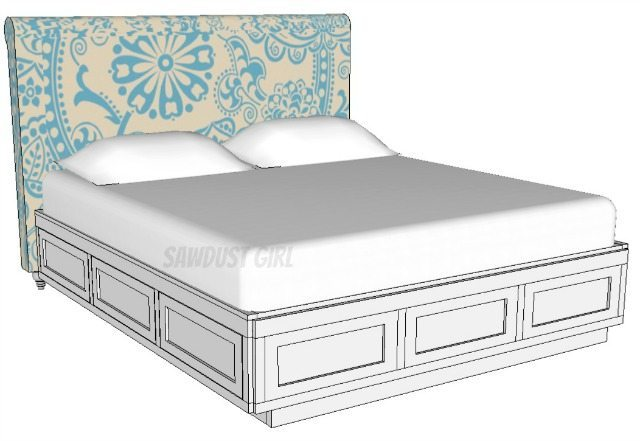 Plans for King Size Platform Bed With Drawers