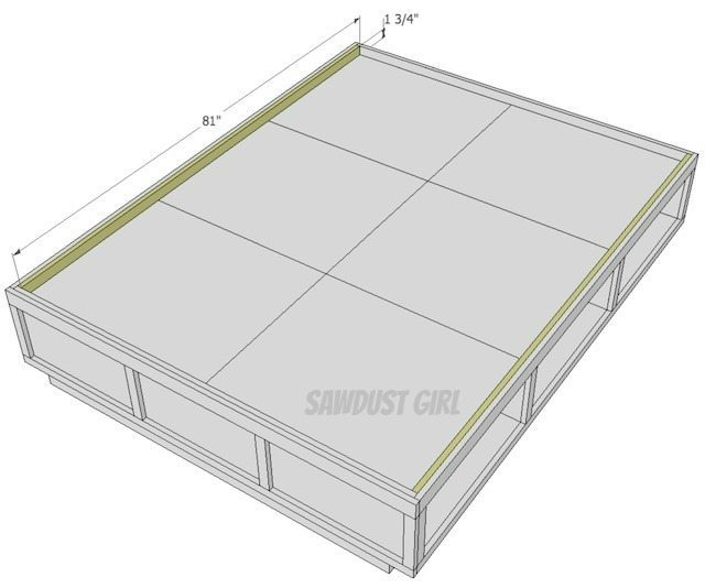 how to build a queen platform bed with storage