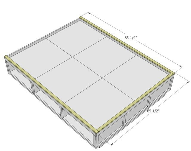 Permalink to build a queen platform bed frame
