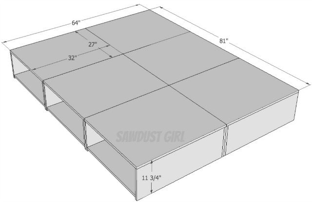 diy platform bed with drawers plans