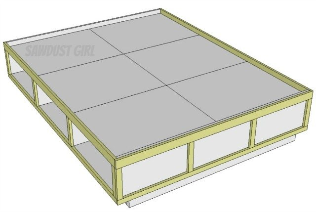 PDF DIY Queen Size Storage Bed Frame Plans Download recording studio ...