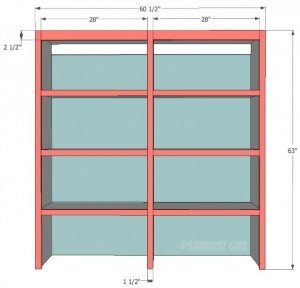Built-in Upper Bookshelf Plans – Cara Collection