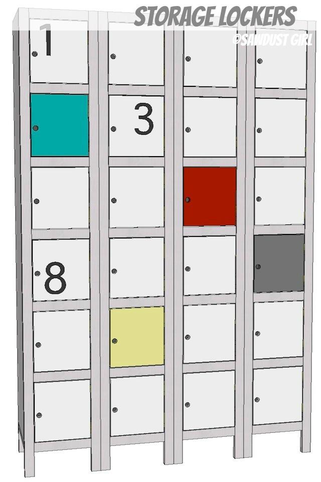 shoe locker storage