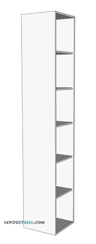 Free woodworking plans for storage shelf or lockers