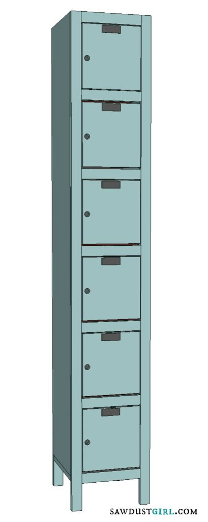 Toy and Shoe Locker Storage Free Woodworking Plans