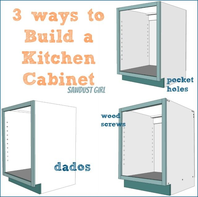 Three Ways To Build Diy Kitchen Cabinets Sawdust Girl 174