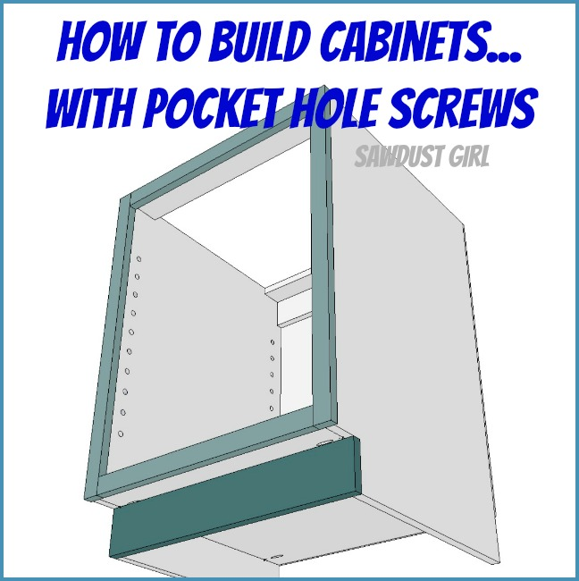How To Build A Cabinet With Pocket Hole Screws Sawdust Girl