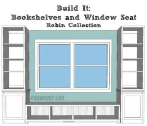 Robin Collection Bookshelf – free woodworking plans
