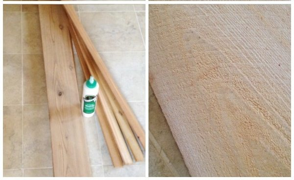making a cedar bath caddy
