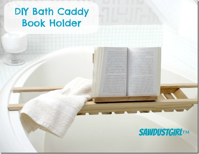 DIY Bath Caddy Book Holder