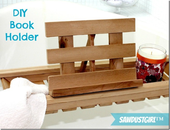 DIY Book Holder for Bath Caddies - Sawdust Girl®