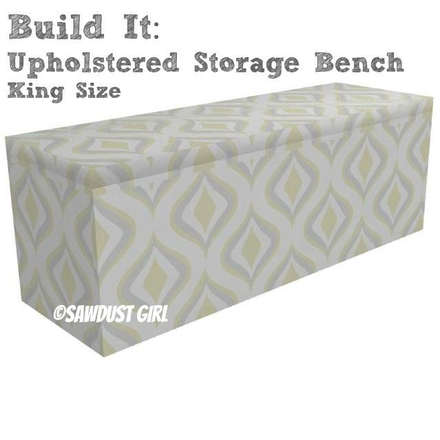 King size upholstered storage bench sawdust girl King size bed bench