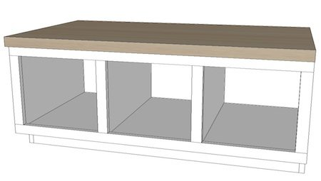 Entryway bench plans