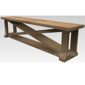 Dining Room Bench – free plans