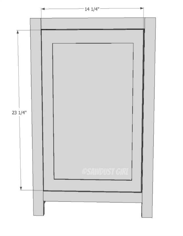build a cabinet with shelves and door