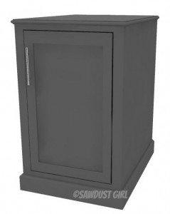 Small Desk Cabinet- Madison Avenue Collection